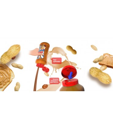 crema de cacahuete en bote de fácil aplicación