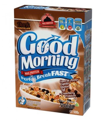 Caja cereales Good Morning Max Protein chocolate negro
