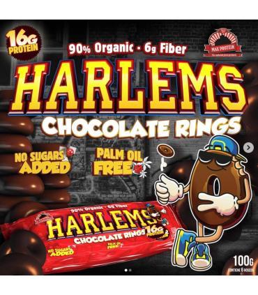 Rosquillas de chocolate negro proteicas baja en grasas y azúcares