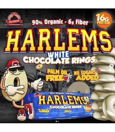 Rosquillas de chocolate blanco proteicas baja en grasas y azúcares