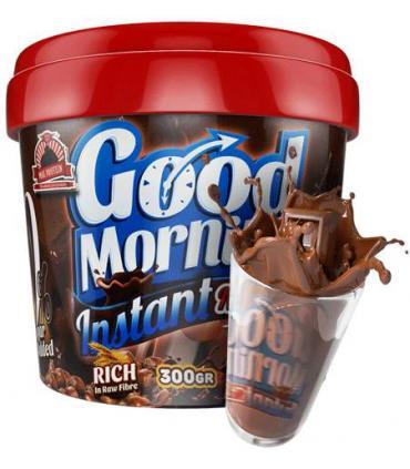 Bote Good Morning instant con cacao en polvo proteico