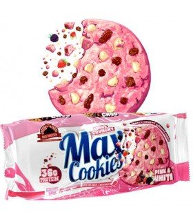 Cookies Max Protein en sabor fresa y chocolate blanco