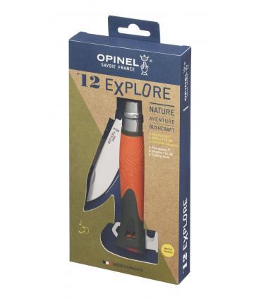 Opinel Nº 12 Explore navaja multiusos con silbato y encendedor