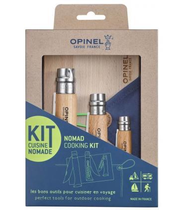 Opinel kit de cocina nomada con funda y tabla de madera
