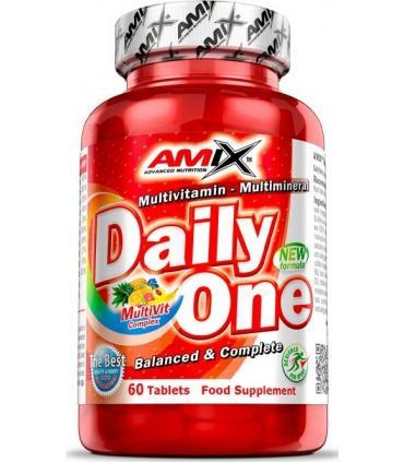 Amix Daily One multivitamínico y multiminerales diario 60 tabletas