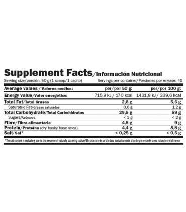 información nutricional Amix Oatmash