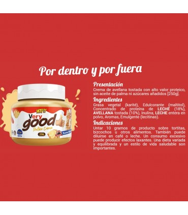 ingredientes WTF Very Good Max Protein crema de avellanas
