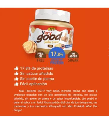información nutricional Max Protein WTF Very Good