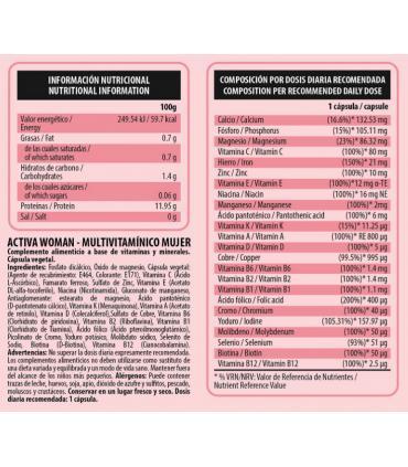 Información Nutricional Vitamin C Be Essential 90 cápsulas