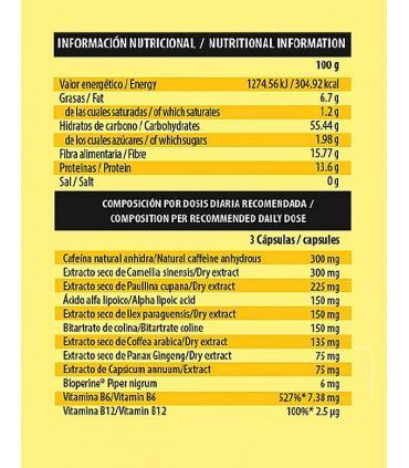 Información nutricional Thermo Chilli Be Essential