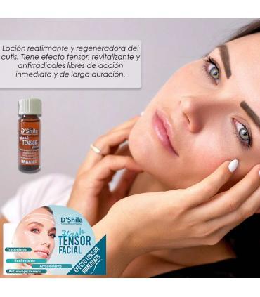 D'Shila flash tensor facial inmediato antioxidante y antienvejecimiento 10ml