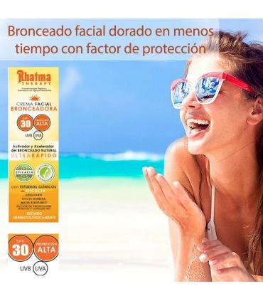 Rhatma Crema facial bronceadora SPF 30 protección alta 60ml