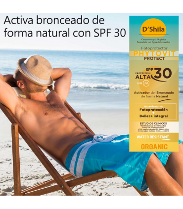 D'Shila fotoprotector solar UVA y UVB Phytovit SPF30