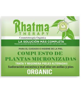 Rhatma Therapy desodorante micronizado por plantas, reduce la sudoración 15g