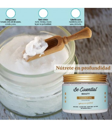 Propiedades Be Essential Coconut Oil 500 ml