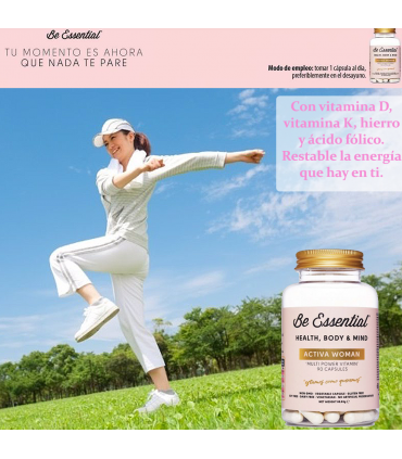 Be Essential Activa Woman aporte de vitaminas y minerales 90 cápsulas