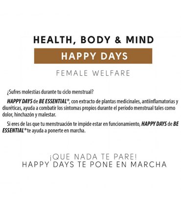Como evitar las molestias menstruales con Be Essential Happy Days en cápsulas