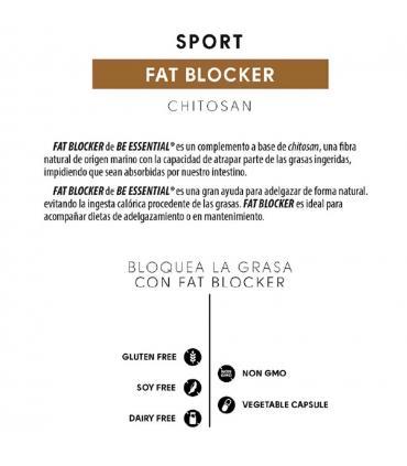 Be Essential Fat Blocker contiene Chitosan que atrapa las grasas ingeridas 120 cápsulas