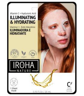 Mascarilla Iroha Nature Iluminadora e Hidratante de Tisú con Vitamina C Pura + AH