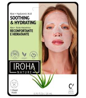 Mascarilla Iroha Nature Reconfortante e Hidratante de Tisú con Aloe + AH Biodegradable