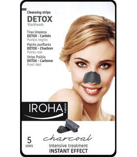 Iroha Nature Tiras con carbón para los puntos negros de la nariz 5 unidades