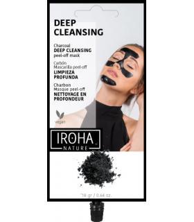 Mascarilla Iroha Peel Off Deep Cleansing limpia puntos negros carbón activo natural