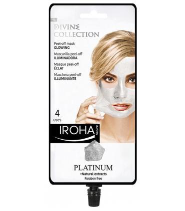 Mascarila Iroha Nature Platinum Divine Peel-off Iluminadora 4 usos