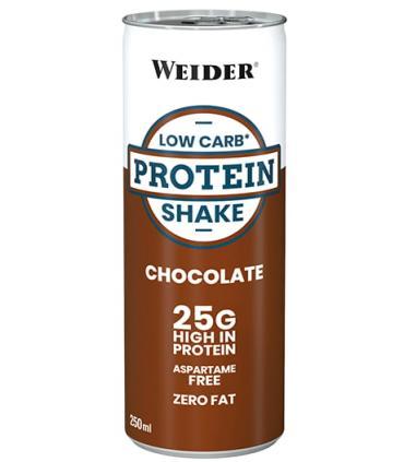 Weider Batido de proteínas Low Carb Protein Shake sabor Chocolate en lata 250ml