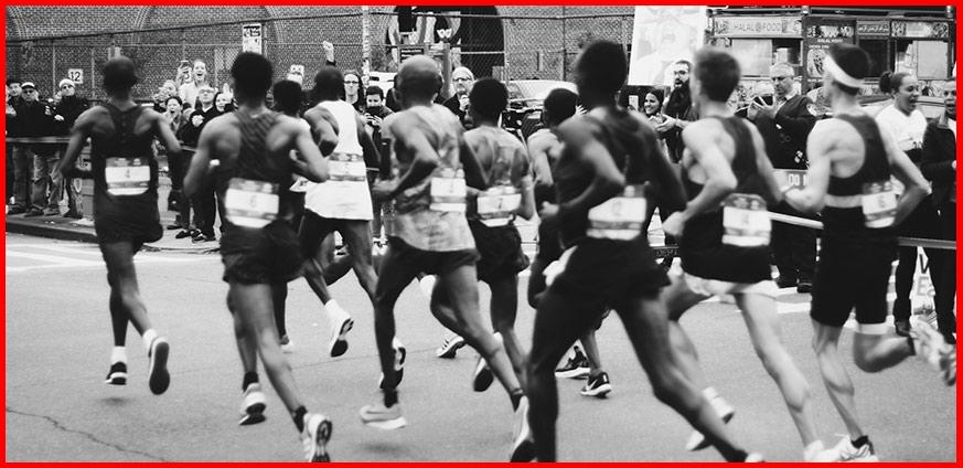 mallas para correr blanco y negro