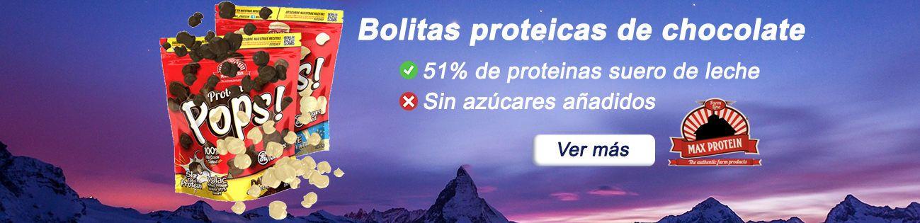 Bolitas de chocolate proteicas Max Protein Pops