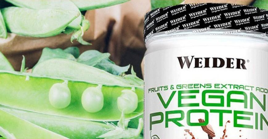 Proteína vegana Weider: Información técnica del suplemento