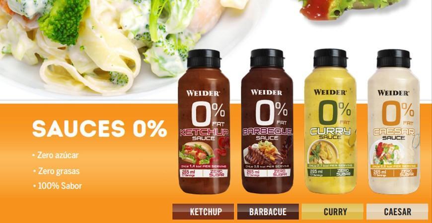 Nuevas salsas bajas en calorías y bajas en hidratos, cero grasas y cero azucares de Weider